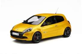 Renault  - Clio 2010 yellow - 1:18 - OttOmobile Miniatures - 350 - otto350 | The Diecast Company