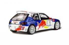 Peugeot  - 306 2017 white/blue/red - 1:18 - OttOmobile Miniatures - 829 - otto829 | The Diecast Company
