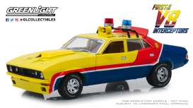 Ford  - Falcon XB V8 Interceptor 1974 yellow/blue/red - 1:18 - GreenLight - 13574 - gl13574 | The Diecast Company