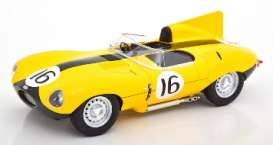 Jaguar  - 1957 yellow - 1:18 - CMR - cmr144 - cmr144 | The Diecast Company