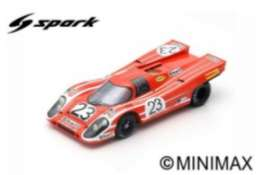 Porsche  - 1970 red/orange - 1:18 - Spark - 18LM70 - spa18LM70 | The Diecast Company