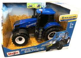 New Holland  - Farm Tractor blue/black - 1:16 - Maisto - 82231 - mai82231 | The Diecast Company