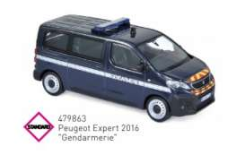 Peugeot  - 2016 blue/white - 1:43 - Norev - 479863 - nor479863 | The Diecast Company