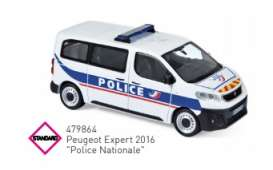 Peugeot  - 2016 white/blue - 1:43 - Norev - 479864 - nor479864 | The Diecast Company