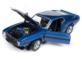 Shelby Mustang - GT350 1969 blue - 1:18 - Auto World - AMM1188 - AMM1188 | The Diecast Company