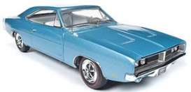 Dodge  - Charger 1969 light blue - 1:18 - Auto World - AMM1200 - AMM1200 | The Diecast Company