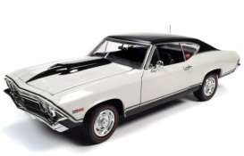 Chevrolet  - Chevelle 1968 white - 1:18 - Auto World - AMM1201 - AMM1201 | The Diecast Company