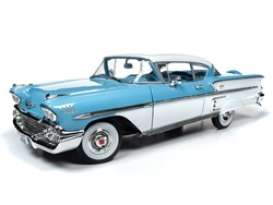 Chevrolet  - Bel Air 1958 blue - 1:18 - Auto World - AMM1216 - AMM1216 | The Diecast Company