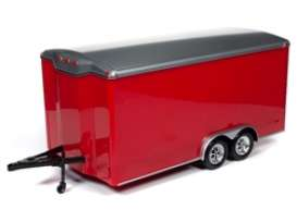 Trailer  - red/silver - 1:18 - Auto World - AMM1218 - AMM1218 | The Diecast Company