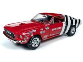 Ford  - Mustang 1968 red/white - 1:18 - Auto World - 259 - AW259 | The Diecast Company