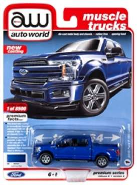 Ford  - F150 blue - 1:64 - Auto World - SP029A - AWSP029A | The Diecast Company
