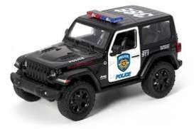 Jeep  - Wrangler 2017 black//white - 1:36 - Kinsmart - 5412WP - KT5412WP | The Diecast Company