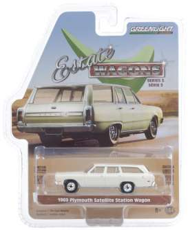Plymouth  - Satellite 1969 white - 1:64 - GreenLight - 29990B - gl29990B | The Diecast Company