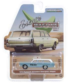 Plymouth  - Belvedere 1970 blue - 1:64 - GreenLight - 29990C - gl29990C | The Diecast Company