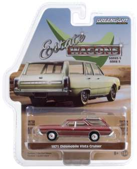 Oldsmobile  - Vista Cruiser 1971 red - 1:64 - GreenLight - 29990D - gl29990D | The Diecast Company