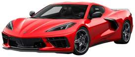 Corvette  - Stingray C8 2020 red - 1:24 - Motor Max - 79360 - mmax79360r | The Diecast Company