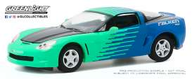 Corvette  - C6 2013 green-blue - 1:64 - GreenLight - 30176 - gl30176 | The Diecast Company