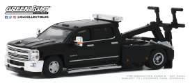 Chevrolet  - Silverado 2018 black - 1:64 - GreenLight - 46040D - gl46040D | The Diecast Company