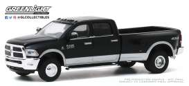 Ram  - 3500 2018 black - 1:64 - GreenLight - 46040E - gl46040E | The Diecast Company