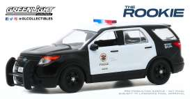 Ford  - 2013 black/white - 1:43 - GreenLight - 86587 - gl86587 | The Diecast Company