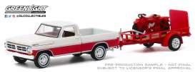 Ford  - F-100 1972 red/white - 1:64 - GreenLight - 32200A - gl32200A | The Diecast Company