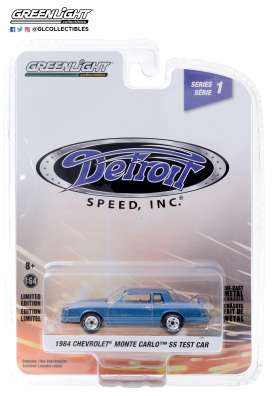 Chevrolet  - Monte SS 1984 blue - 1:64 - GreenLight - 39040B - gl39040B | The Diecast Company