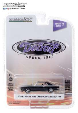 Chevrolet  - Camaro 1969 black - 1:64 - GreenLight - 39040D - gl39040D | The Diecast Company