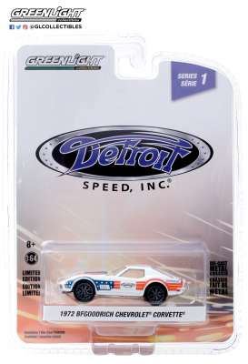 Chevrolet  - Corvette 1972 red/white/blue - 1:64 - GreenLight - 39040F - gl39040F | The Diecast Company