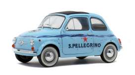 Fiat  - 500 1965 blue - 1:18 - Solido - 1801406 - soli1801406 | The Diecast Company