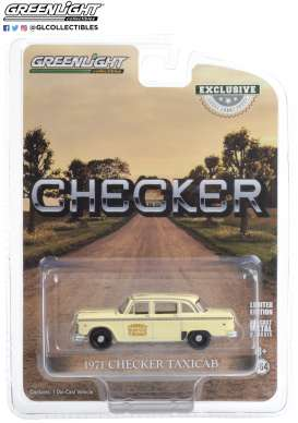 Checker  - Taxicab Tisdale Cab Co. 1971 white - 1:64 - GreenLight - 30182 - gl30182 | The Diecast Company