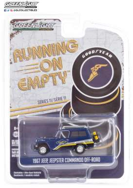 Jeep  - Jeepster 1967 blue - 1:64 - GreenLight - 41110B - gl41110B | The Diecast Company