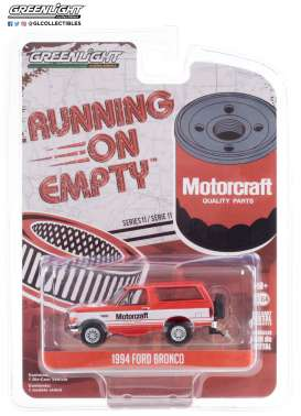 Ford  - Bronco 1994 red/white - 1:64 - GreenLight - 41110E - gl41110E | The Diecast Company