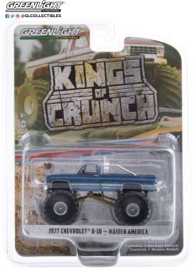 Chevrolet  - K-10 Monster Truck 1977 blue - 1:64 - GreenLight - 49070A - gl49070A | The Diecast Company