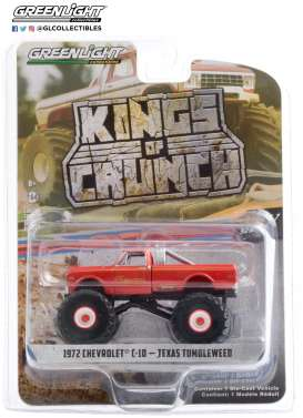 Chevrolet  - C-10 Monster Truck 1972 red - 1:64 - GreenLight - 49070B - gl49070B | The Diecast Company