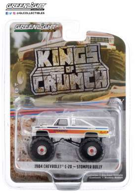Chevrolet  - C-20 Monster Truck 1984 white/red - 1:64 - GreenLight - 49070C - gl49070C | The Diecast Company