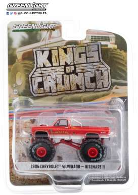Chevrolet  - Silverado Monster Truck 1986 red - 1:64 - GreenLight - 49070D - gl49070D | The Diecast Company