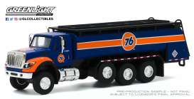 International  - WorkStar Tanker Truck 2018 blue/orange/white - 1:64 - GreenLight - 45100A - gl45100A | The Diecast Company