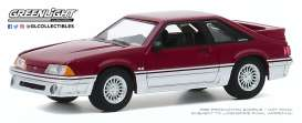 Ford  - Mustang 1991 red-silver - 1:64 - GreenLight - 47080C - gl47080C | The Diecast Company