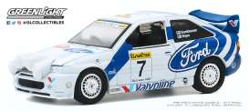 Ford  - Escort RS 1996 white/blue - 1:64 - GreenLight - 47080E - gl47080E | The Diecast Company
