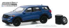 Ford  - Explorer 2020 blue - 1:64 - GreenLight - 97090F - gl97090F | The Diecast Company
