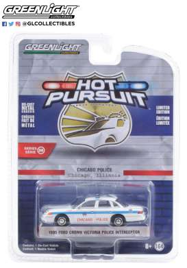 Ford  - Crown Victoria 1995 white/blue - 1:64 - GreenLight - 42930D - gl42930D | The Diecast Company