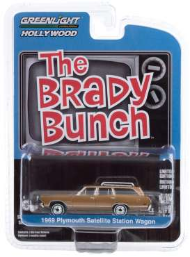 Plymouth  - Satellite 1969 brown - 1:64 - GreenLight - 44890B - gl44890B | The Diecast Company