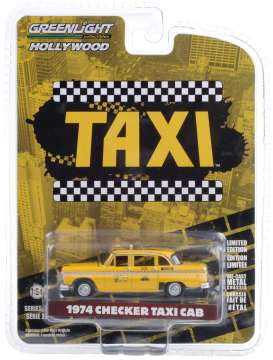 Checker  - 1974 yellow - 1:64 - GreenLight - 44890C - gl44890C | The Diecast Company