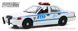 Ford  - Crown Victoria 2011 white/blue - 1:24 - GreenLight - 85513 - gl85513 | The Diecast Company
