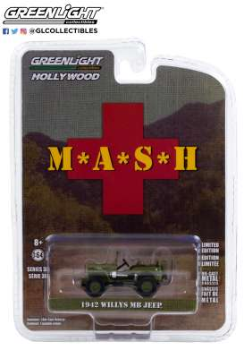 Willys Jeep - MB 1942 green - 1:64 - GreenLight - 44900A - gl44900A | The Diecast Company