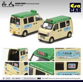 Suzuki  - Every Bus 2018 cream/green - 1:64 - Era - 19EVESP10 - Era19EVESP10 | The Diecast Company