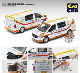 Mercedes Benz  - Vito Pet Ambulance 2020 white/red/yellow - 1:64 - Era - MB20VITSP15 - Era20VITSP15 | The Diecast Company
