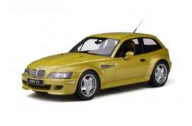 BMW  - Z3 M Coupe 3.2 1999 yellow - 1:18 - OttOmobile Miniatures - ot866 - otto866 | The Diecast Company