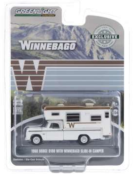 Dodge  - D-100 1966 white - 1:64 - GreenLight - 30189 - gl30189 | The Diecast Company