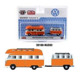 Volkswagen  - Double Cab 1959 orange/white - 1:64 - M2 Machines - 38100MJS03 - M2-38100MJS03 | The Diecast Company